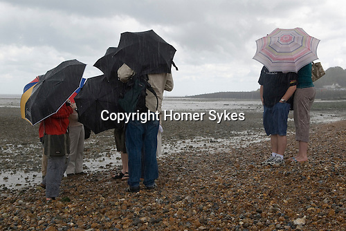 Whitstable Kent Summer rain. UK 2007