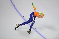 SCHAATSEN: Calgary: Essent ISU World Sprint Speedskating Championships, 28-01-2012, 500m Dames, Marrit Leenstra, ©foto Martin de Jong