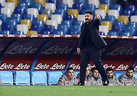 26th January 2020; Stadio San Paolo, Naples, Campania, Italy; Serie A Football, Napoli versus Juventus; Gennaro Gattuso coach of Napoli gives directions to his players
