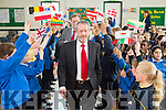 A great welcome  for MEP Sean Kelly  who visited Presentation  Primary Tralee, for Blue Flag Showcase Day programme on Monday