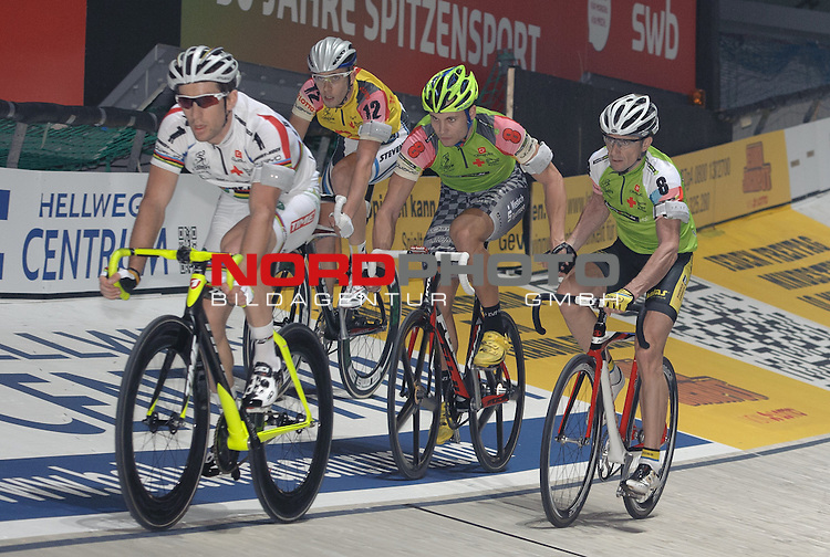 12.01.2014, &Ouml;VB Arena, Bremen, GER, Sixdays Bremen, im Bild Vivien Brisse (Team Schmidt + Koch #1), Nico He&szlig;lich / Milan Kadlec (Team leasing e bike #8)<br /> <br /> Foto &copy; nordphoto / Frisch