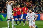 Spain's  Dani Carvajal Vitolo Machin Koke Resurreccion during the match of European qualifying round between Spain and Macedonia at Nuevo Los Carmenes Stadium in Granada, Spain. November 12, 2016. (ALTERPHOTOS/Rodrigo Jimenez)