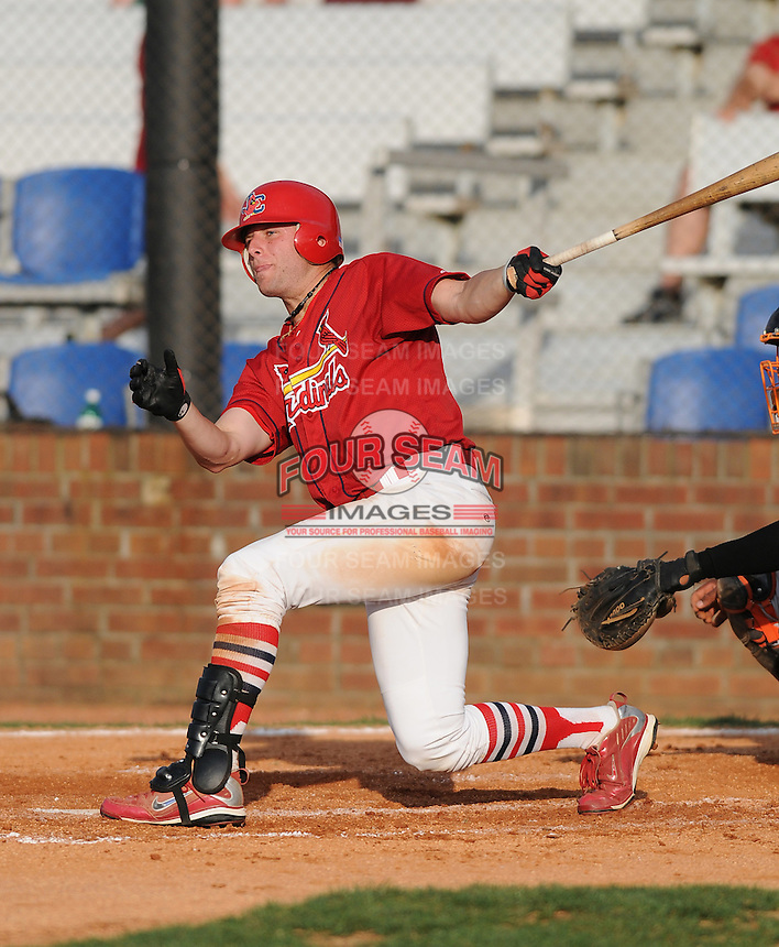 August 1, 2009: Outfielder Ross Smith (28) of the Johnson City Cardinals, rookie Appalachian League affiliate of the St. Louis Cardinals, in a game at Howard Johnson Field in Johnson City, Tenn. Photo by: Tom Priddy/Four Seam