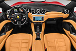 Stock photo of straight dashboard view of 2015 Ferrari California T 2 Door Convertible Dashboard