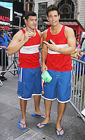 NEW YORK, NY-August 11: Gio Benitez, Rob Marciano at Good Morning America go for GMA Games Gold in New York. NY August 11, 2016. Credit:RW/MediaPunch