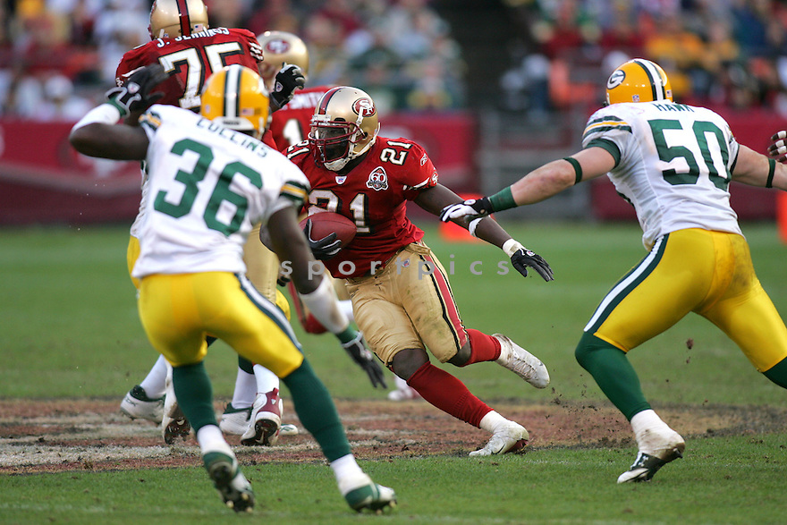 FRANK GORE, of the San Francisco 49ers, during their game  against the Green Bay Packers on December 10, 2006 in San Francisco, CA...Green Bay win 30-19..ROB HOLT/ SPORTPICS