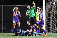 Piscataway, NJ - Wednesday Sept. 07, 2016: Kaylyn Kyle, Matthew Franz, Monica, Maya Hayes during a regular season National Women's Soccer League (NWSL) match between Sky Blue FC and the Orlando Pride FC at Yurcak Field.
