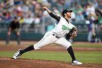 Dayton Dragons starting pitcher Jose Lopez (33) during a game against the South Bend Cubs on May 11, 2016 at Fifth Third Field in Dayton, Ohio.  South Bend defeated Dayton 2-0.  (Mike Janes/Four Seam Images)