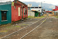 Train tracks through San Jose, Costa Rica