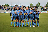 Boyds, MD - Saturday May 6, 2017: Sky Blue FC starting 11   during a regular season National Women's Soccer League (NWSL) match between the Washington Spirit and Sky Blue FC at Maureen Hendricks Field, Maryland SoccerPlex.