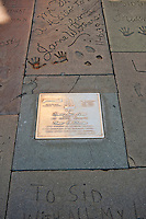 Dedication Plaque, Stars,  Hand - Footprint, Impressions, Grauman's, Chinese, Theater, Hollywood, CA