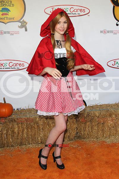 UNIVERSAL CITY, CA - OCTOBER 21:  Katherine McNamara at the Camp Ronald McDonald for Good Times 20th Annual Halloween Carnival at the Universal Studios Backlot on October 21, 2012 in Universal City, California. ©mpi28/MediaPunch Inc. /NortePhoto