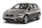 2015 BMW 2 Series 5 Door Mini MPV 2WD Angular Front stock photos of front three quarter view