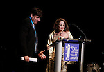 Dale Badway - President Board of Directors - Theatre World Awards introduces Tovah Feldshuh (AMC, Ryans Hope, ATWT) at the 70th Annual Theatre World Awards on June 2, 2014 at Circle on the Square, New York City, New York (Photo by Sue Coflin/Max Photos)