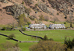 Traditional stone houses, Glenridding, Lake District, Cumbria, England, UK