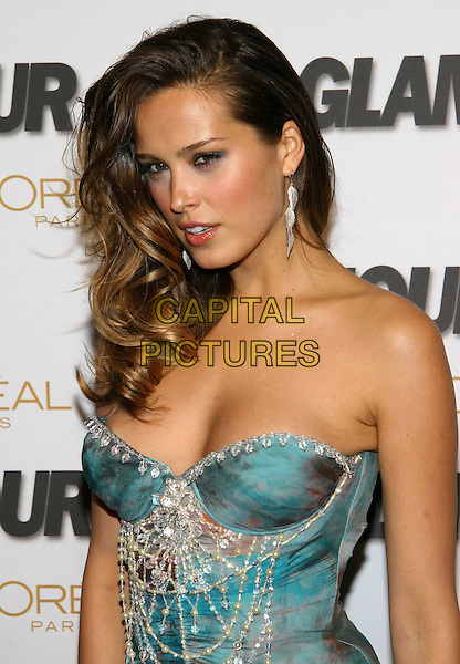 PETRA NEMCOVA.Glamour Magazine's 2005 Women of the Year at Avery Fisher Hall, Lincoln Center, New York, NY.  .November 2nd, 2005.Photo: Jackson Lee/Admedia/Capital Pictures.Ref: JL/ADM.headshot portrait strapless dangling earring blue.www.capitalpictures.com.sales@capitalpictures.com.© Capital Pictures.