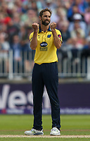 Birmingham Bears' Grant Elliott celebrates taking the wicket of Glamorgan's Chris Cooke<br /> <br /> Photographer Andrew Kearns/CameraSport<br /> <br /> NatWest T20 Blast Semi-Final - Birmingham Bears v Glamorgan - Saturday 2nd September 2017 - Edgbaston, Birmingham<br /> <br /> World Copyright &copy; 2017 CameraSport. All rights reserved. 43 Linden Ave. Countesthorpe. Leicester. England. LE8 5PG - Tel: +44 (0) 116 277 4147 - admin@camerasport.com - www.camerasport.com