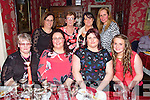 Rosemarie Lynch originally from Hawley Park, Tralee now living in Ballyvourney, Cork celebrating her 40th Birthday at Cassidy's on Saturday.  Front l-r Marie Brosnan, Rosemarie Lynch, Tracy Brosnan, Ashling McCannon Brosnan.  Back l-r Martina Power, Ann Turner, Melissa Barrett, Sinead McCannon