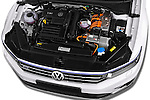 Car Stock 2016 Volkswagen Passat-Variant GTE 5 Door wagon Engine  high angle detail view