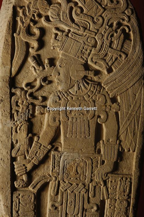 Maya Rise and Fall; Museo Nacional de Arquelogia y Ethnologia; Ministerio de Cultura y Deportes; Guatemala; Guatemala City; Stela; Dos Pilas #11; Ancient Cultures; Maya; Mayan, Manikin Scepter