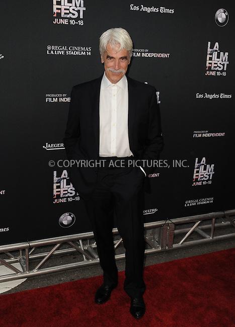 WWW.ACEPIXS.COM<br /> <br /> June 10 2015, Los Angeles Ca<br /> <br /> Sam Elliott arriving at the 'Grandma' premiere at Regal Cinemas on June 10 2015 in Los Angeles Ca.<br /> <br /> Please byline: Peter West/ACE Pictures<br /> <br /> ACE Pictures, Inc.<br /> www.acepixs.com<br /> Email: info@acepixs.com<br /> Tel: 646 769 0430