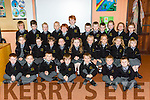 Junior Infants on their first day at school in Gaelscoil Aogain Castleisland on Tuesday