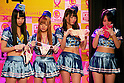 """Japanese adult movie actresses donate their lingeries for a 24 hour telethon event with the aim of raising money for a Stop AIDS charity on August 30, 2014 in Tokyo, Japan. The adult movie stars allowed fans to feel their breasts in return for a donation to the AIDS charity. The 12th annual 24 hour TV event """"Eroticism Saves the Earth Telethon"""" is organized by Sky Perfect Tv Adult Chanel with motto """"Social contribution while enjoying the erotic"""". Fans are given the chance to interact with some of the channels leading actresses in the live broadcast event that runs from Saturday afternoon through until Sunday 20:00 hrs. The organizers expect to attract around 2000 fans raising JPY 2 million (US$20, 000) over the weekend. (Photo by Rodrigo Reyes Marin/AFLO)"""