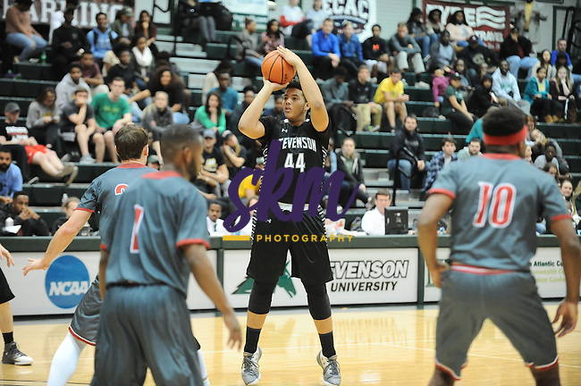 Stevenson men's basketball participated in Hoopsville taking on Lynchburg Friday night at Owings Mills gymnasium where the Hornets ran away with a 101-80 victory over the Mustangs.