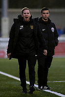Maidstone manager, Harry Wheeler, shows his frustration during Maidstone United vs Oldham Athletic, Emirates FA Cup Football at the Gallagher Stadium on 1st December 2018