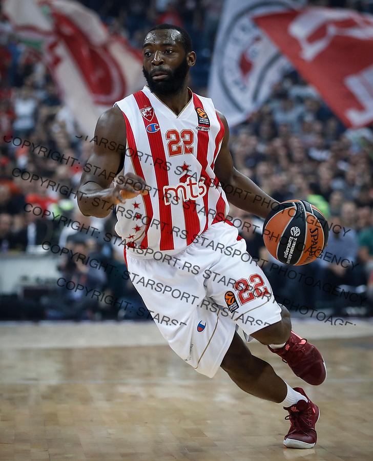 Kosarka Euroleague season 2016-2017<br /> Crvena Zvezda v Olympiacos (Athens)<br /> Charles Jenkins<br /> Beograd, 22.03.2017.<br /> foto: Srdjan Stevanovic/Starsportphoto &copy;