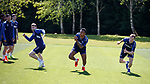 17.05.2019 Rangers training: Jon Flanagan, Alfredo Morelos and Andy Halliday