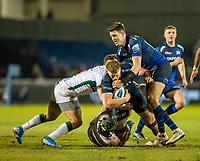6th March 2020; AJ Bell Stadium, Salford, Lancashire, England; Premiership Rugby, Sale Sharks versus London Irish; Dan du Preez of Sale Sharks is tackled