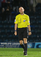 Referee Nicholas Kinseley during the Sky Bet League 2 match between Wycombe Wanderers and Notts County at Adams Park, High Wycombe, England on 15 December 2015. Photo by Andy Rowland.