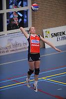 VOLLEYBAL: SNEEK: Sneker Sporthal, DELA League Play-Off Finale, 4e wedstrijd, 01-04-2012, VC Sneek DS1 - Sliedrecht Sport DS1, eindstand 1-3, Roos van Wijnen (#11 | VC Sneek), ©foto Martin de Jong
