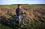 ARM46A Child on country bike ride Butley Suffolk England