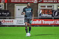 Liverpool's defender Billy Koumetio (89) during the The Leasing.com Trophy match between Fleetwood Town and Liverpool U21 at Highbury Stadium, Fleetwood, England on 25 September 2019. Photo by Stephen Buckley / PRiME Media Images.