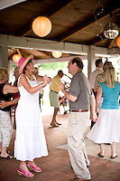 Debbie Pilson on the dance floor at West Bend Vineyard and Winery, in the Yadkin Valley, NC.