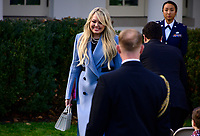 Tiffany Trump greets visitors prior to United States President Donald J. Trump and first lady Melania Trump presenting the National Thanksgiving Turkey in the Rose Garden of the White House in Washington, DC on Tuesday, December 26, 2019.<br /> Credit: Ron Sachs / CNP/AdMedia