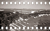 The view through a Holga & 35mm film from the top of Devil's Causeway in South Routt County, Colorado.
