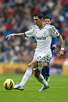 27.01.2013 SPAIN -  La Liga 12/13 Matchday 21th  match played between Real Madrid CF vs Getafe C.F. (4-0) at Santiago Bernabeu stadium. The picture show Angel di Maria (Argentine midfielder of Real Madrid)
