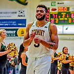 8 December 2018: University of Vermont Forward Anthony Lamb, a Junior from Toronto, Ontario, leaves the court after a game against the Harvard University Crimson at Patrick Gymnasium in Burlington, Vermont. Lamb scored a career-high 37 points, overcoming a 10-point 2nd half team deficit, leading the America East Catamounts over the Ivy League Crimson 71-65 in NCAA Division I inter-league play. Mandatory Credit: Ed Wolfstein Photo *** RAW (NEF) Image File Available ***