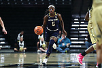 WINSTON-SALEM, NC - DECEMBER 31: Notre Dame's Jackie Young. The Wake Forest University Demon Deacons hosted the Notre Dame University Fighting Irish on December 31, 2017 at Lawrence Joel Veterans Memorial Coliseum in Winston-Salem, NC in a Division I women's college basketball game. Notre Dame won the game 96-73.