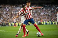Real Madrid´s Carlos Henrique Casemiro and Atletico de Madrid´s Jose Maria Gimenez during La Liga match. February 1, 2020. <br /> (ALTERPHOTOS/David Jar)<br /> 01/02/2020 <br /> Liga Spagna 2019/2020 <br /> Real Madrid - Atletico Madrid  <br /> Foto Alterphotos / Insidefoto <br /> ITALY ONLY