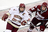 Matt Price (BC - 25), Michael Lecomte (UMass - 25) - The Boston College Eagles defeated the University of Massachusetts-Amherst Minutemen 6-5 on Friday, March 12, 2010, in the opening game of their Hockey East Quarterfinal matchup at Conte Forum in Chestnut Hill, Massachusetts.