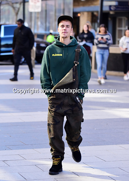 6 JULY 2017 SYDNEY AUSTRALIA<br /> WWW.MATRIXPICTURES.COM.AU<br /> <br /> NON EXCLUSIVE PICTURES<br /> <br /> Justin Bieber pictured with Pastor Carl in Granville going to Nando's <br /> <br /> Note: All editorial images subject to the following: For editorial use only. Additional clearance required for commercial, wireless, internet or promotional use.Images may not be altered or modified. Matrix Media Group makes no representations or warranties regarding names, trademarks or logos appearing in the images.