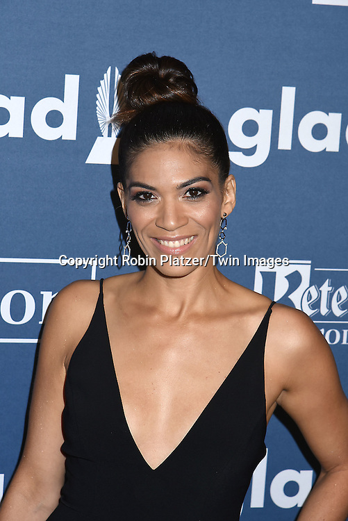 Laura Gomez of &quot;Orange is the New Black&quot;attends the 27th Annual GLAAD Media Awards on May 14, 2016 at the Waldorf Astoria Hotel in New York City, New York, USA.<br /> <br /> photo by Robin Platzer/Twin Images<br />  <br /> phone number 212-935-0770