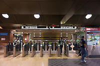 San Francisco subway station exit, California