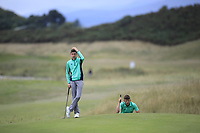 John Brady of Ireland during Day 2 / Foursomes of the Boys' Home Internationals played at Royal Dornoch Golf Club, Dornoch, Sutherland, Scotland. 08/08/2018<br /> Picture: Golffile | Phil Inglis<br /> <br /> All photo usage must carry mandatory copyright credit (&copy; Golffile | Phil Inglis)