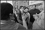 A job fair was held at the edge of Chinatown in San Francisco drew thousands of people who stood in long lines hoping to find a job out of the  just 100 available. At times the line became unruly where monitors had to come in to maintain order.