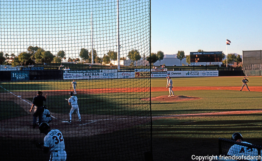 Ballparks: Phoenix, AZ. Scottsdale Stadium. View from General Admission, first base side!